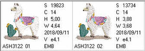 Super Cool Llama - aStitch aHalf