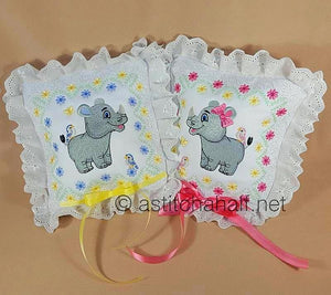 Rodney and Riley Baby Rhino Quilt Combo - a-stitch-a-half
