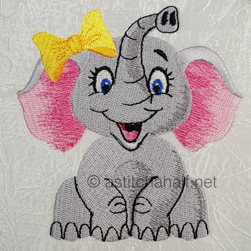 Giggles Baby Elephant Boy and Girl Pillow Quilt Combo - a-stitch-a-half