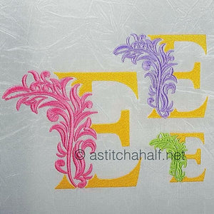 Fabulous Foliage Monogram E
