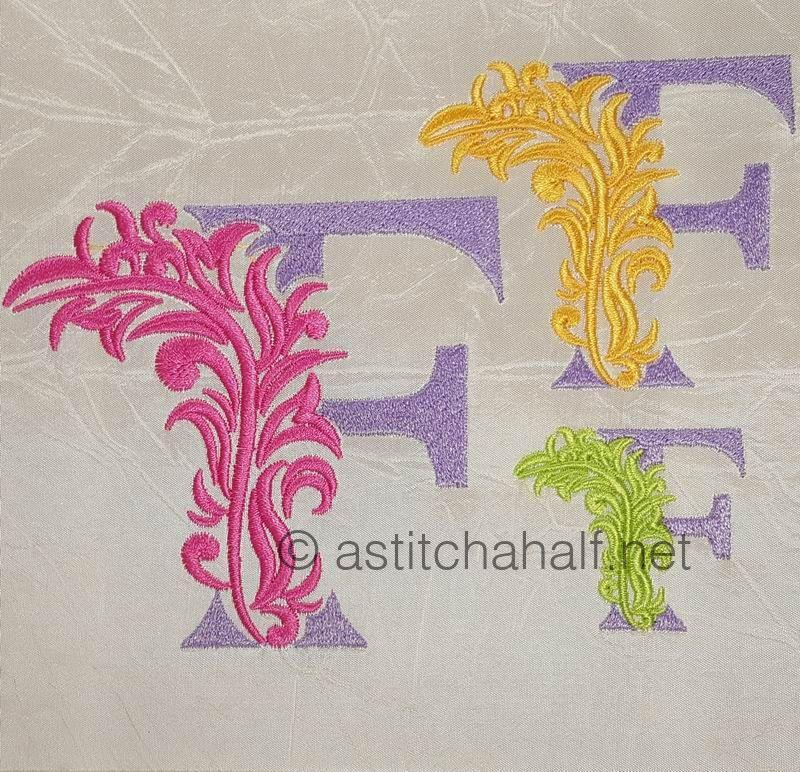 Fabulous Foliage Monogram F