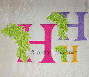 Fabulous Foliage Monogram H