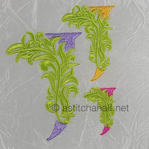 Fabulous Foliage Monogram J