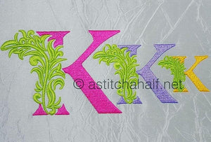 Fabulous Foliage Monogram K
