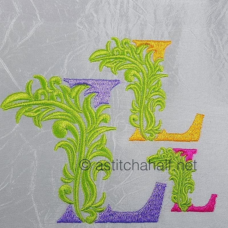 Fabulous Foliage Monogram L