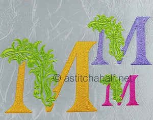 Fabulous Foliage Monogram M