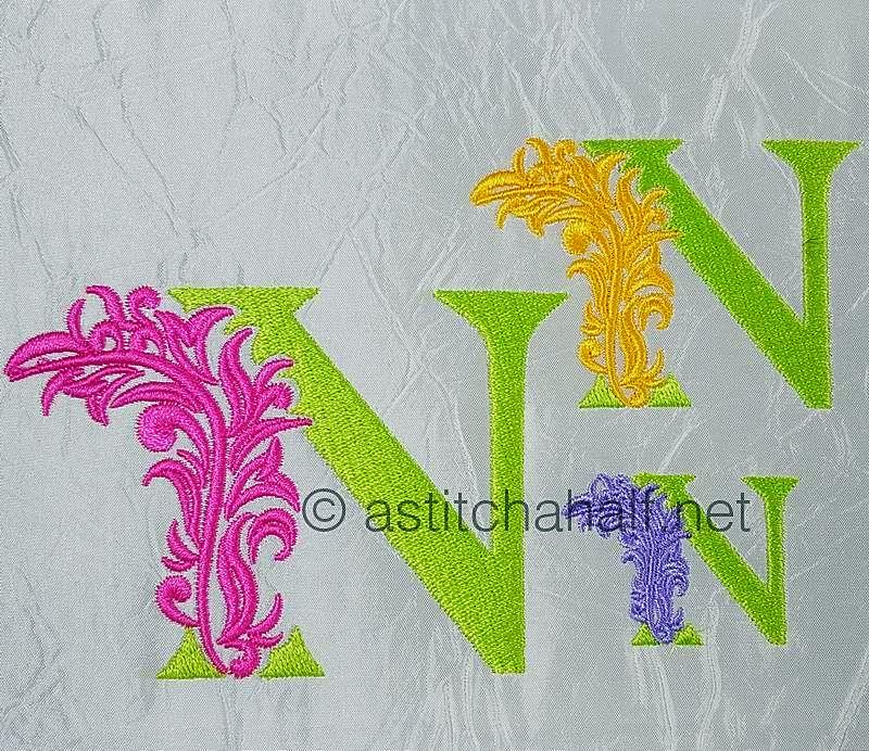 Fabulous Foliage Monogram N