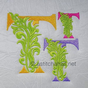 Fabulous Foliage Monogram T