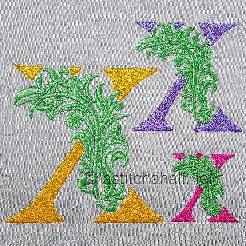 Fabulous Foliage Monogram X