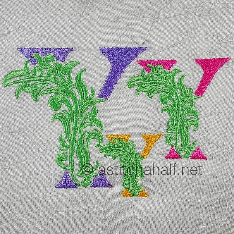 Fabulous Foliage Monogram Y