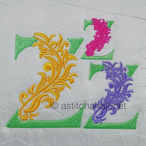 Fabulous Foliage Monogram Z