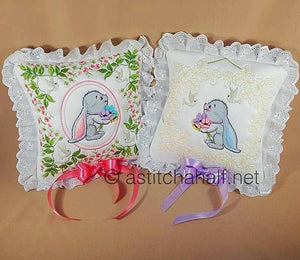 Sweet Little Bunny Big Ears Pillow Quilt Combo - a-stitch-a-half