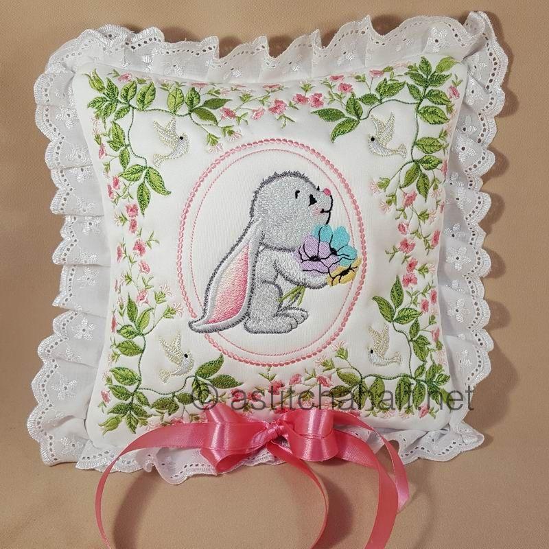 Sweet Little Bunny Big Ears Pillow Quilt Combo