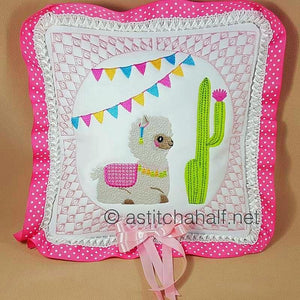 Cute Baby Alpaca and Llama Pillow Quilt Combo - a-stitch-a-half