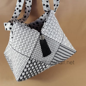 Popular Houndstooth Tote Bag and Quilt Blocks