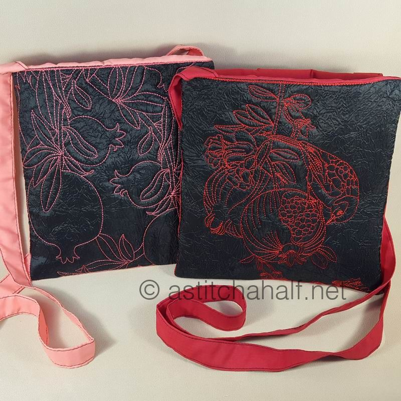 Passionate Pomegranate Plural Cross Body Bags