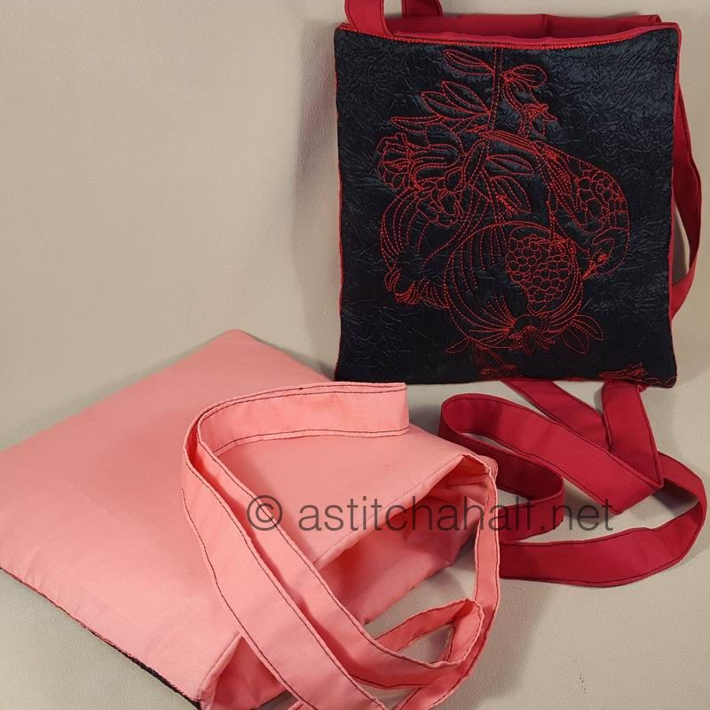 Passionate Pomegranate Plural Cross Body Bags - a-stitch-a-half