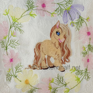 Little Snow Pony and Friend Pillow Quilt Combo - a-stitch-a-half