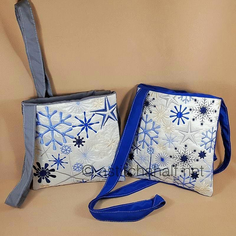 Winter Snowflake Cross Body Bags - a-stitch-a-half