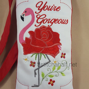 Flowery Flamingo Cross Body Bags - a-stitch-a-half