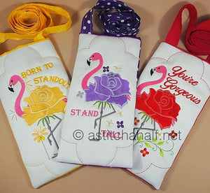Flowery Flamingo Cross Body Bags