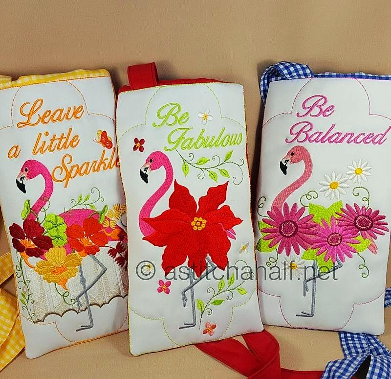 Flamingo Bouquet Cross Body Bags