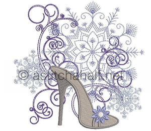 Flowery and Frosty Shoes