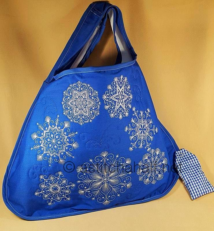 Super Snowfall Fold and Go Reusable Shopping Bag - a-stitch-a-half