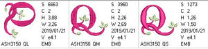 Green Earth Monogram Q - a-stitch-a-half