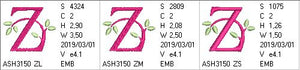 Green Earth Monogram Z - a-stitch-a-half