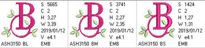 Green Earth Monogram B - a-stitch-a-half