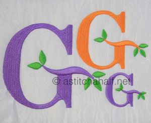 Green Earth Monogram G - a-stitch-a-half