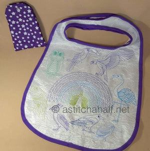 Birds of a Feather Fold and Go Reusable Shopping Bag - a-stitch-a-half
