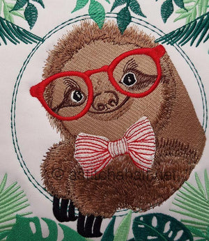 Professor Sloth Reading Pillow - a-stitch-a-half