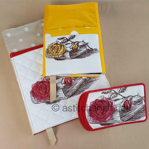 Vintage Roses with Adjustable Book Cover and Eyeglass Case - a-stitch-a-half