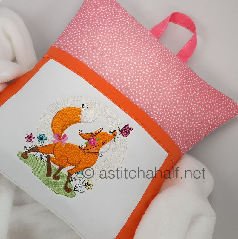 Fancy Fox Reading Pillow - a-stitch-a-half