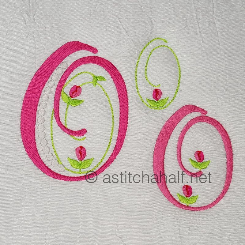 Mini Tulip and Pearls Monogram Letters O