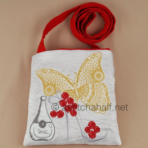 Flamboyance Butterfly and Perfume Square Cross Body Bag - a-stitch-a-half