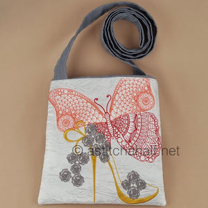 Flamboyance Butterfly and Shoe Square Cross Body Bag