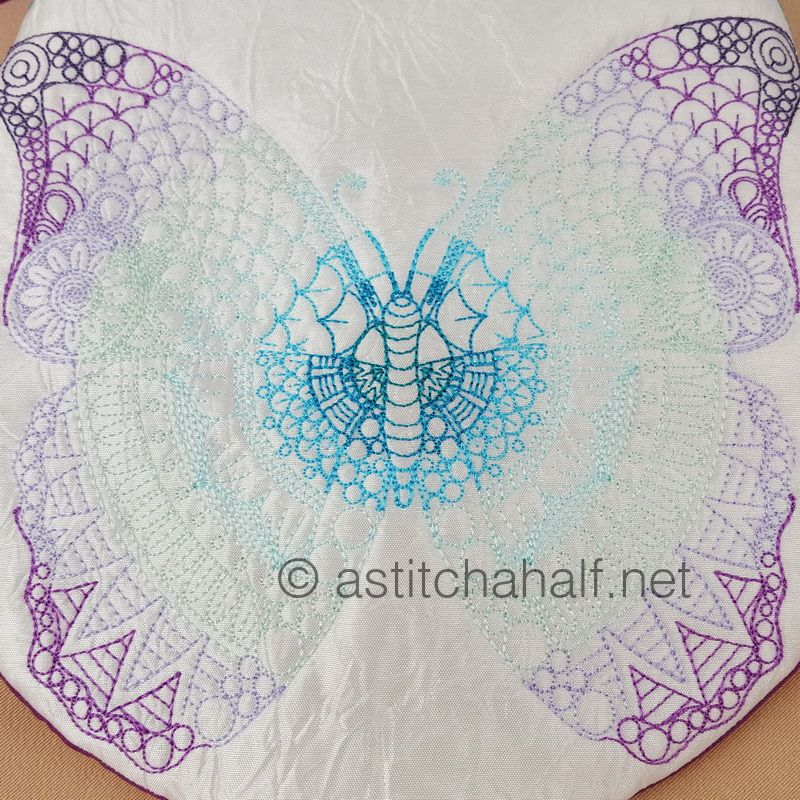 Mega Butterfly Mandala Round Cross Body Bag - a-stitch-a-half