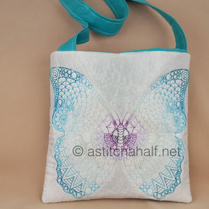 Mega Butterfly Mandala Square Cross Body Bag