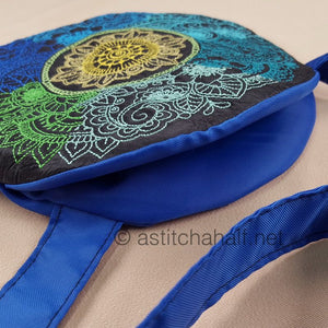 Ombre Mandala Round Cross Body Bag - a-stitch-a-half