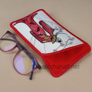 Beauty of Asia Eyeglass Case In The Hoop - a-stitch-a-half