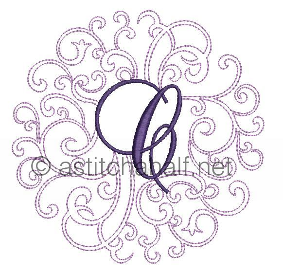 Regal Curls Monogram Letters C