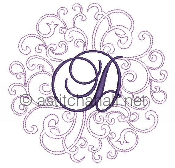 Regal Curls Monogram Letters D