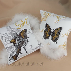 Masquerade Shoe and Butterflies - a-stitch-a-half