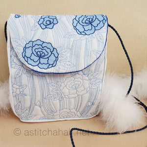 Japanese Peony Satchel Bag - a-stitch-a-half
