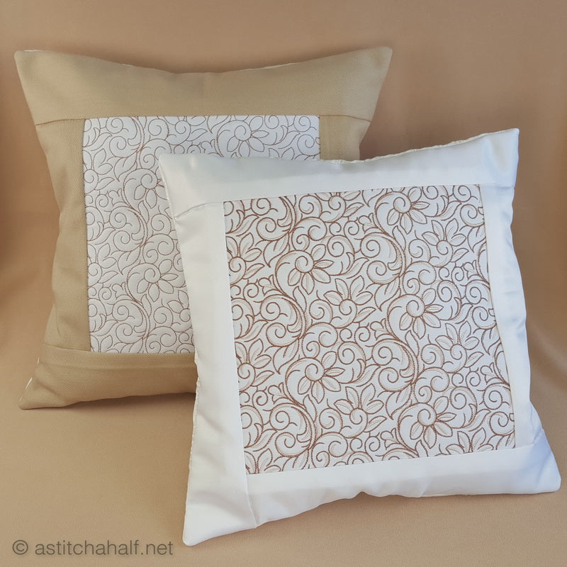 Essentials Floral Decorative Pillow Designs - a-stitch-a-half
