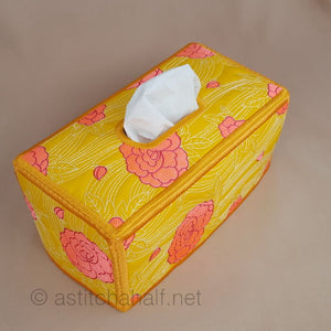 Just Japanese Tissue Box Cover - a-stitch-a-half