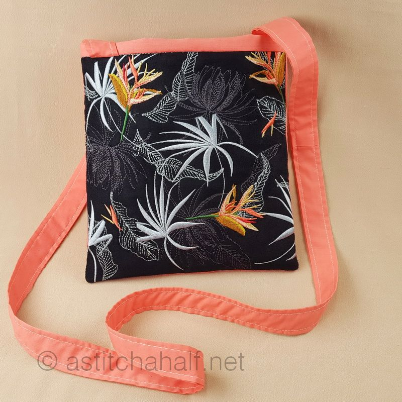 Strelitzia Cross Body Bag - a-stitch-a-half